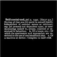 titled (art as idea as idea)' [self-contained] - [o.e.d. shorter] by joseph kosuth